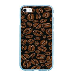 Чехол iPhone 6/6S Plus матовый Арабика цвета 3D-голубой — фото 1