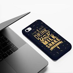 Чехол iPhone 6/6S Plus матовый Milk Shake цвета 3D-черный — фото 2