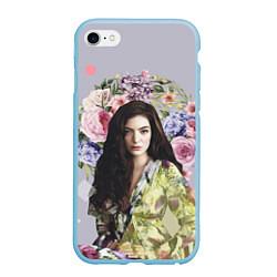 Чехол iPhone 6/6S Plus матовый Lorde Floral цвета 3D-голубой — фото 1