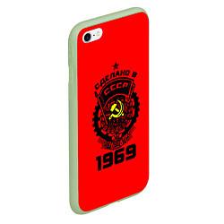 Чехол iPhone 6/6S Plus матовый Сделано в СССР 1969 цвета 3D-салатовый — фото 2