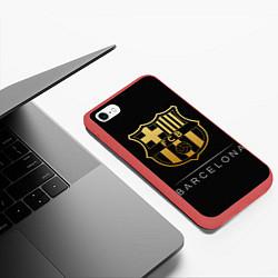 Чехол iPhone 6/6S Plus матовый Barcelona Gold Edition цвета 3D-красный — фото 2