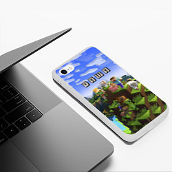 Чехол iPhone 6/6S Plus матовый Minecraft: Даша цвета 3D-белый — фото 2