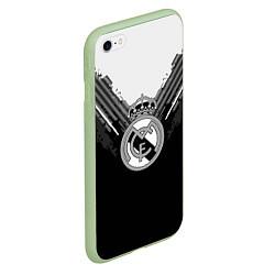 Чехол iPhone 6/6S Plus матовый FC Real Madrid: Black Style цвета 3D-салатовый — фото 2