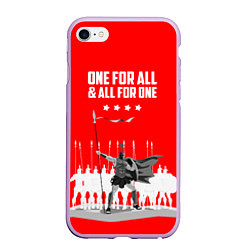 Чехол iPhone 6/6S Plus матовый One for all & all for one цвета 3D-сиреневый — фото 1