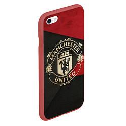 Чехол iPhone 6/6S Plus матовый FC Man United: Old Style цвета 3D-красный — фото 2