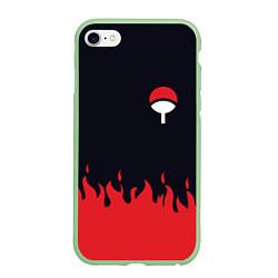 Чехол iPhone 6/6S Plus матовый UCHIHA CLAN цвета 3D-салатовый — фото 1