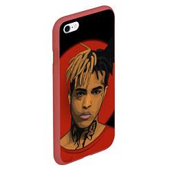Чехол для iPhone 6/6S Plus матовый с принтом XXXTentacion: Red Sun, цвет: 3D-красный, артикул: 10160710505961 — фото 2