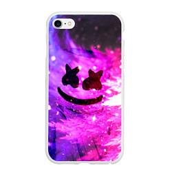 Чехол iPhone 6/6S Plus матовый Marshmello Lights цвета 3D-белый — фото 1