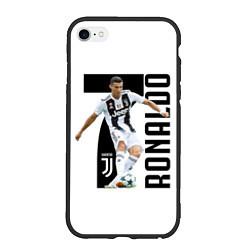 Чехол iPhone 6/6S Plus матовый Ronaldo the best цвета 3D-черный — фото 1