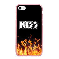 Чехол iPhone 6/6S Plus матовый Kiss: Hell Flame цвета 3D-баблгам — фото 1