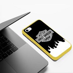 Чехол iPhone 6/6S Plus матовый HARLEY DAVIDSON цвета 3D-желтый — фото 2