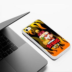 Чехол iPhone 6/6S Plus матовый BRAWL STARS GALE цвета 3D-белый — фото 2