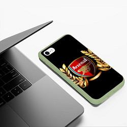 Чехол iPhone 6/6S Plus матовый Arsenal цвета 3D-салатовый — фото 2