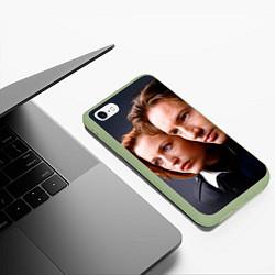 Чехол iPhone 6/6S Plus матовый Скалли и Малдер цвета 3D-салатовый — фото 2