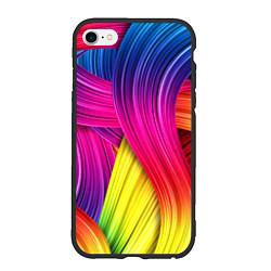 Чехол iPhone 6/6S Plus матовый Абстракция цвета цвета 3D-черный — фото 1