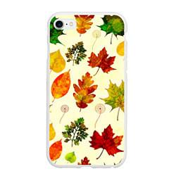 Чехол iPhone 6/6S Plus матовый Осень цвета 3D-белый — фото 1