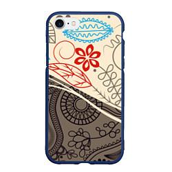 Чехол iPhone 7/8 матовый Прованс цвета 3D-тёмно-синий — фото 1