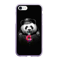 Чехол iPhone 7/8 матовый Donut Panda цвета 3D-светло-сиреневый — фото 1