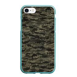 Чехол iPhone 7/8 матовый Камуфляж рыбака цвета 3D-мятный — фото 1