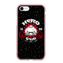 Чехол iPhone 7/8 матовый Hero Gym цвета 3D-баблгам — фото 1