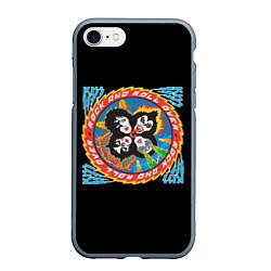 Чехол iPhone 7/8 матовый KISS: Over цвета 3D-серый — фото 1