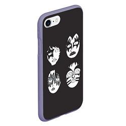 Чехол iPhone 7/8 матовый KISS Mask цвета 3D-серый — фото 2