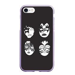 Чехол iPhone 7/8 матовый KISS Mask цвета 3D-светло-сиреневый — фото 1