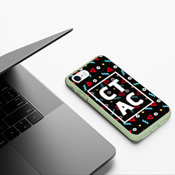 Чехол iPhone 7/8 матовый Стас цвета 3D-салатовый — фото 2