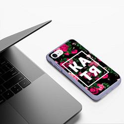 Чехол iPhone 7/8 матовый Катя цвета 3D-светло-сиреневый — фото 2