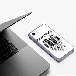 Чехол iPhone 7/8 матовый Ramones Party цвета 3D-серый — фото 2