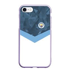 Чехол iPhone 7/8 матовый Manchester City FC: Sport цвета 3D-светло-сиреневый — фото 1