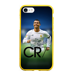 Чехол iPhone 7/8 матовый CR7 цвета 3D-желтый — фото 1