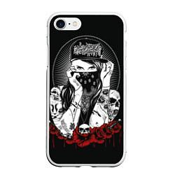 Чехол iPhone 7/8 матовый Тату-мастер цвета 3D-белый — фото 1