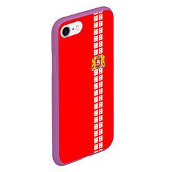 Чехол iPhone 7/8 матовый Грузия цвета 3D-фиолетовый — фото 2