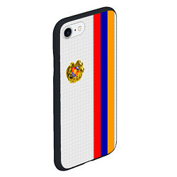 Чехол iPhone 7/8 матовый I Love Armenia цвета 3D-черный — фото 2
