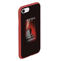 Чехол iPhone 7/8 матовый Twin Peaks: Firewalk with me цвета 3D-красный — фото 2