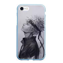 Чехол iPhone 7/8 матовый Наруто Узумаки цвета 3D-голубой — фото 1