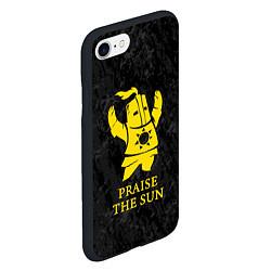 Чехол iPhone 7/8 матовый Praise The Sun цвета 3D-черный — фото 2