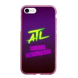 Чехол iPhone 7/8 матовый ATL цвета 3D-малиновый — фото 1
