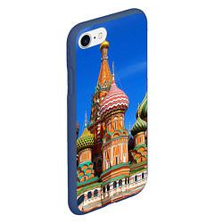 Чехол iPhone 7/8 матовый Храм Василия Блаженного цвета 3D-тёмно-синий — фото 2