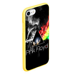 Чехол iPhone 7/8 матовый Pink Floyd цвета 3D-желтый — фото 2