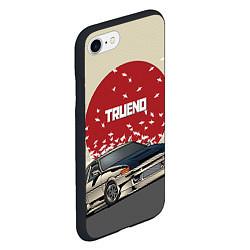 Чехол iPhone 7/8 матовый Toyota Trueno ae86 цвета 3D-черный — фото 2