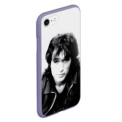 Чехол iPhone 7/8 матовый Кино: Виктор Цой цвета 3D-серый — фото 2