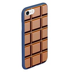 Чехол iPhone 7/8 матовый Шоколад цвета 3D-тёмно-синий — фото 2