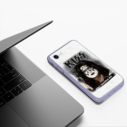 Чехол iPhone 7/8 матовый KISS: Adult spaceman wig цвета 3D-светло-сиреневый — фото 2