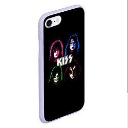 Чехол iPhone 7/8 матовый KISS: Acid Colours цвета 3D-светло-сиреневый — фото 2