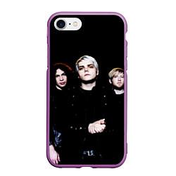 Чехол iPhone 7/8 матовый My Chemical Romance цвета 3D-фиолетовый — фото 1