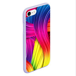 Чехол iPhone 7/8 матовый Абстракция цвета цвета 3D-светло-сиреневый — фото 2