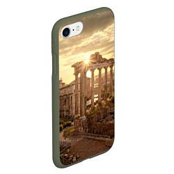Чехол iPhone 7/8 матовый Римское солнце цвета 3D-темно-зеленый — фото 2