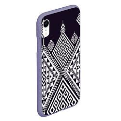 Чехол iPhone XR матовый Мильфлер цвета 3D-серый — фото 2